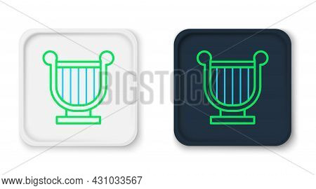 Line Ancient Greek Lyre Icon Isolated On White Background. Classical Music Instrument, Orhestra Stri