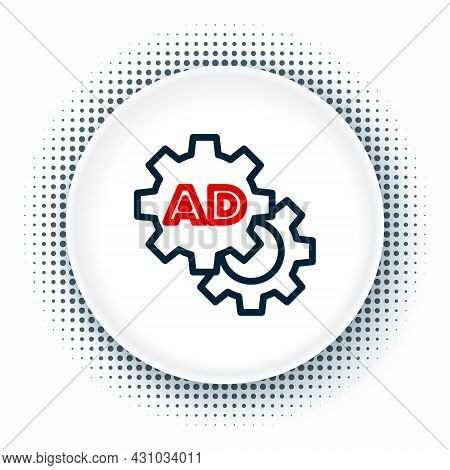 Line Advertising Icon Isolated On White Background. Concept Of Marketing And Promotion Process. Resp