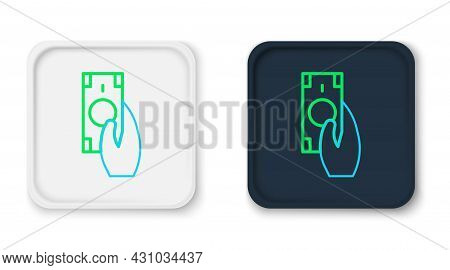 Line Fast Payments Icon Isolated On White Background. Fast Money Transfer Payment. Financial Service