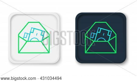 Line Envelope With Coin Dollar Symbol Icon Isolated On White Background. Salary Increase, Money Payr