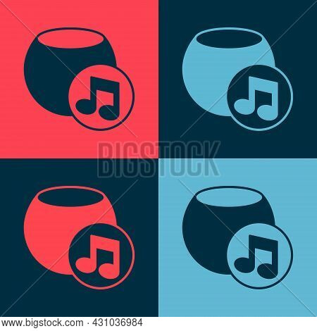 Pop Art Voice Assistant Icon Isolated On Color Background. Voice Control User Interface Smart Speake
