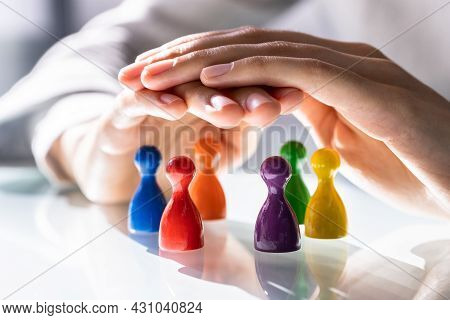Inclusion And Staff Diversity. Equal Inclusive Pawns. Equality Leadership