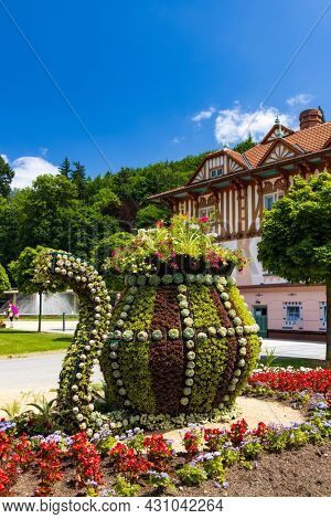 Luhacovice, picturesque spa town in Southern Moravia, Czech Republic
