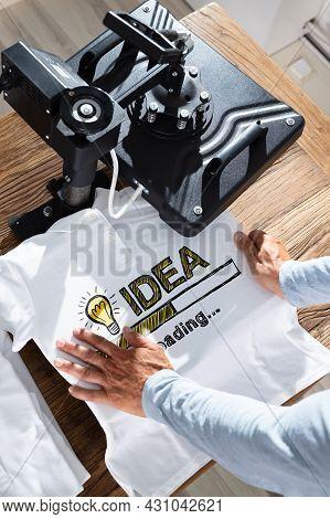 Tshirt Print Using Heat Press Machine. Shirt Printing