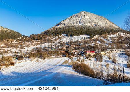 Vlkolinec village UNESCO site in Velka Fatra mountains, Slovakia