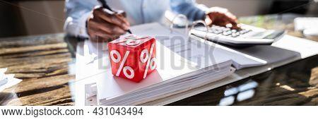 Corporate Tax And Interest Rate Percent. Calculating Percent