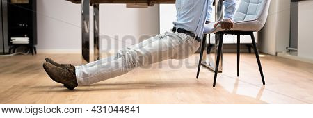 Triceps Dip Exercise Workout Using Office Chair