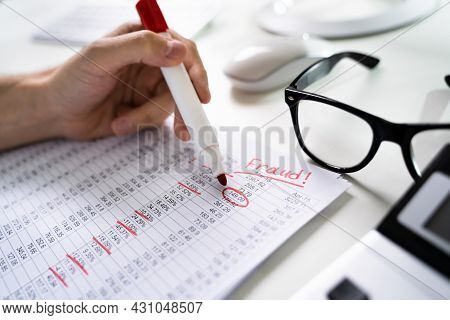 Financial Fraud Investigation Report. Accounting Tax Auditor