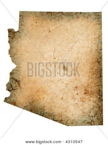 Grungy Arizona Map