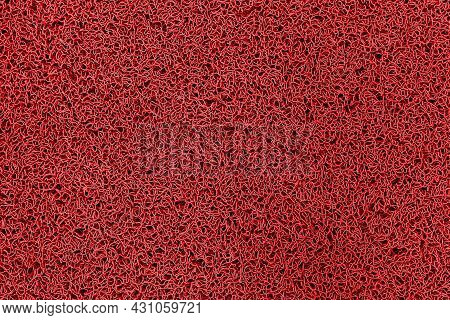 Red Plastic Doormat Texture And Background Seamless
