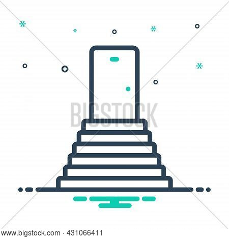 Mix Icon For Stairs Achievement Building Staircase Stairway Stepladder Sidestep Step Ladder Progress
