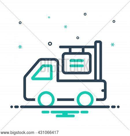 Mix Icon For Van-advertising Van Advertising Shipping Blurb Automobile Cargo Advertisement Billboard