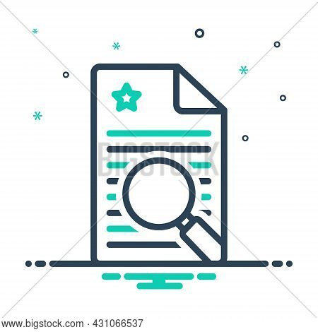 Mix Icon For Finding Search Quest Find Discovery Magnifier Document