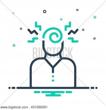 Mix Icon For Mental Psychic Psycho Psychical Supersensible Brain Stress
