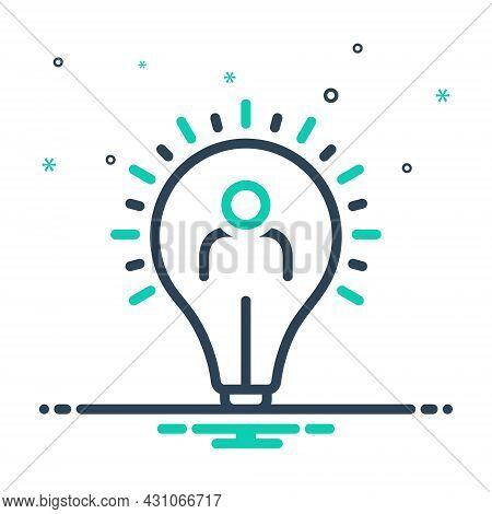 Mix Icon For Initiative Impulsion Self-motivation Resourcefulness Capability Inventiveness