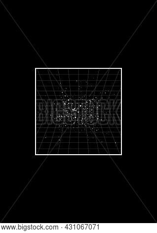 Retrowave T-shirt And Apparel Design With Perspective Grids On Starry Space Background. The 1980s Ae