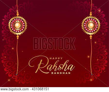 Raksha Bandhan Indian Festival Background Design Vector Illustration