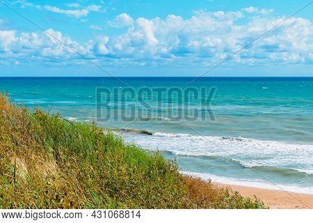 View Of The Black Sea On A Sunny Day From The Hill