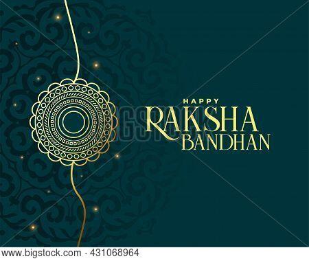 Happy Raksha Bandhan Premium Greeting Design Vector Illustration