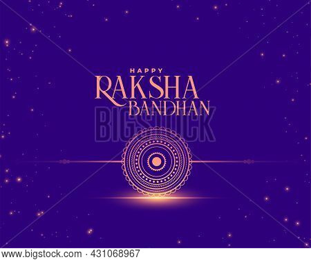 Raksha Bandhan Wishes Card In Shiny Style Design Vector Illustration
