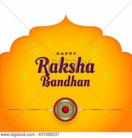 Ethnic Raksha Bandhan Festival Background Design Vector Illustration