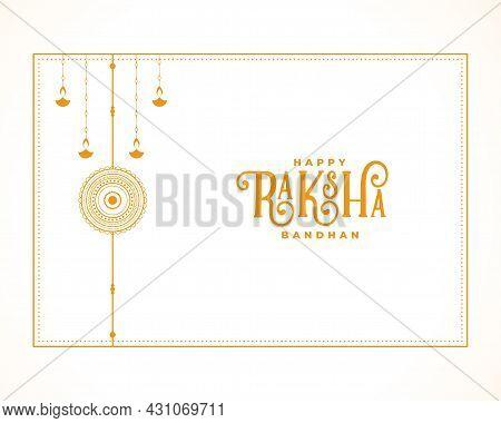 Elegant Raksha Bandhan Festival Greeting Design Vector Illustration