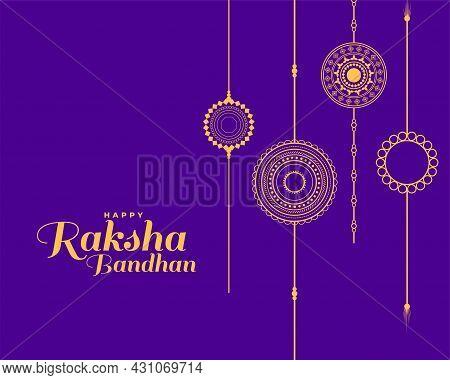Wishes Card For Raksha Bandhan Festival Design Vector Illustration