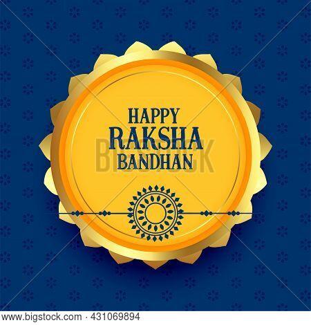 Happy Raksha Bandhan Greeting Festival Card Design Vector Illustration