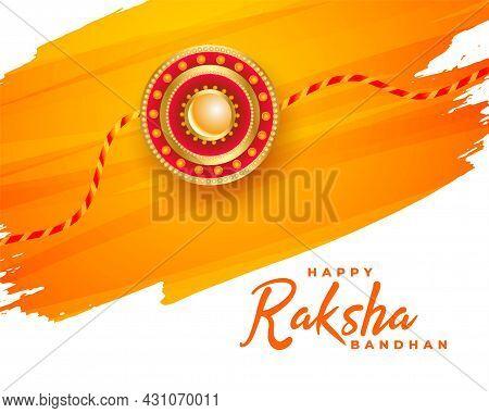 Happy Raksha Bandhan Traditional Festival Background Design Vector Illustration