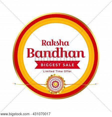 Raksha Bandhan Sale Background Design Vector Illustration