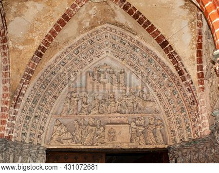 Malbork, Poland - Sept 8, 2020: Interior Of Malbork Castle, Formerly Marienburg Castle, The Seat Of