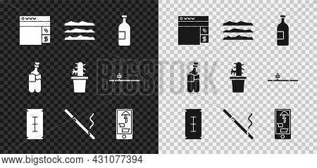 Set Buying Drugs Online, Cocaine Or Heroin, Alcohol Drink Bottle, Blade Razor, Cigarette, Phone, Bon