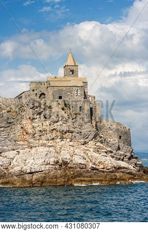 Headland In Portovenere Or Porto Venere, The Medieval Church Of San Pietro (st. Peter, 1198), Unesco