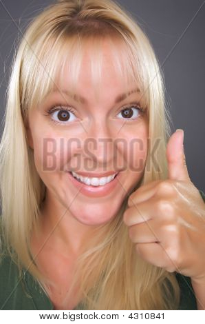 Beautiful Woman With A Thumbs Up