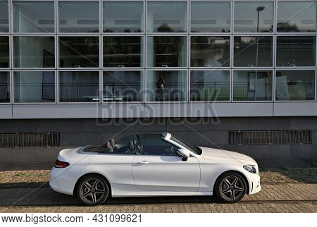 Dusseldorf, Germany - September 19, 2020: Mercedes-benz C-class Convertible Car Parked In Germany. T