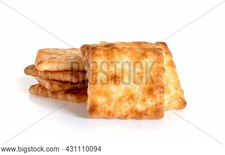 Square Crackers An Isolated On White Background