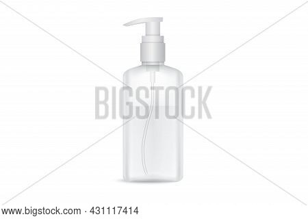 Hand Antibacterial Sanitizer Dispenser Pump. Cosmetic Bottle With Dispenser Liquid Container For Gel