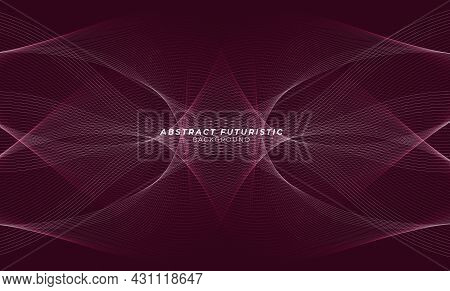 Background Wave Flowing Over Dark, Futuristic And Seamless Pattern Gradients Design. Abstract Futuri