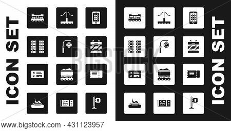Set Buy Train Ticket Online, Train Station Clock, Railway, Railroad Track, Cargo Wagon, End Of Railw