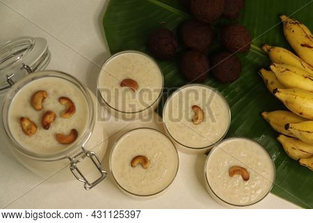 Rice Puddings Prepared In Kerala Style. A Popular Dessert Called Palada Pradhaman Made With Rice Noo