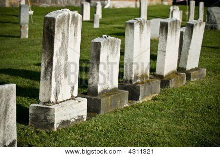 Blank White Headstones