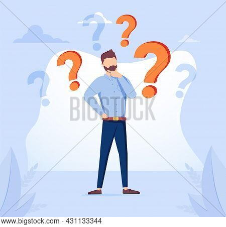 Decision Making Confusion And Successful Option Choice Tiny Person Concept. Doubt And Struggle About