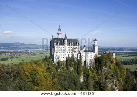 Neuschwanstein Castle In Autumn, Bavaria, Germany