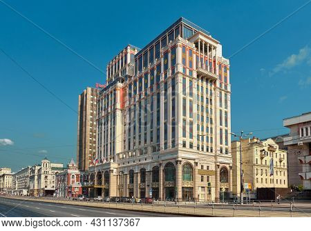 View Of Krasnoprudny Business Center Or Imperial Plaza Multifunctional Complex In Moscow, Stylized,