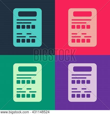 Pop Art Exam Sheet Icon Isolated On Color Background. Test Paper, Exam, Or Survey Concept. School Te