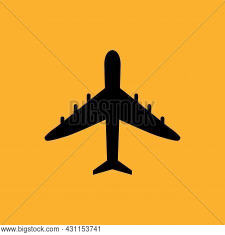 Airlplane Logo. Airlplane Icon. Airlplane Icon Vector Isolated On White Background. Airlplane Icon A