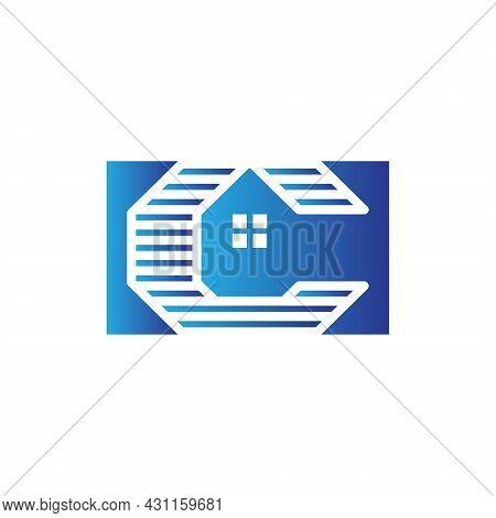 Letter C Siding House Construction Logo Template