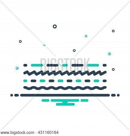 Mix Icon For Line Track Dash Underline Streak Boundary Borderline