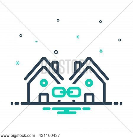 Mix Icon For Link Attachment Neighbor Vicinal Neighbouring Relationship Interconnection