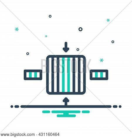 Mix Icon For Thick Fat Plump Voluminous Coarse Dimension Gauge